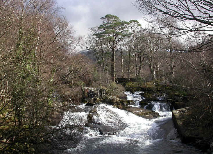 The cascades at Ogwen Bank