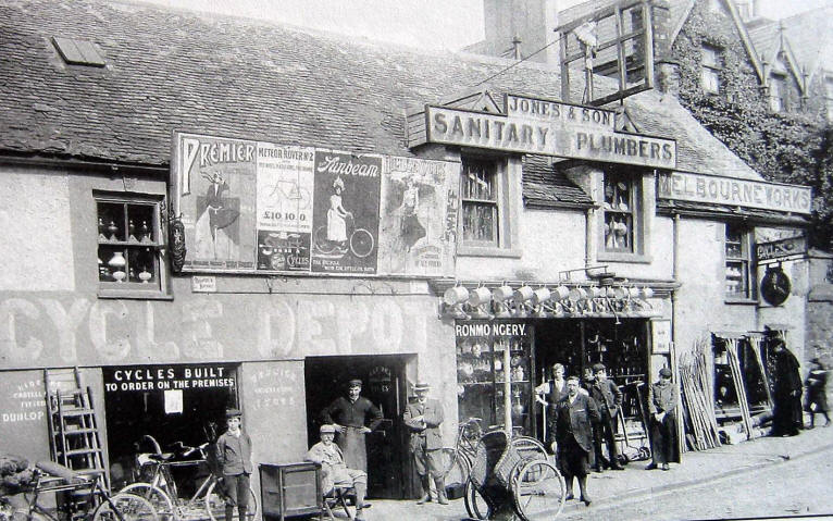 Old photo of a Conwy street