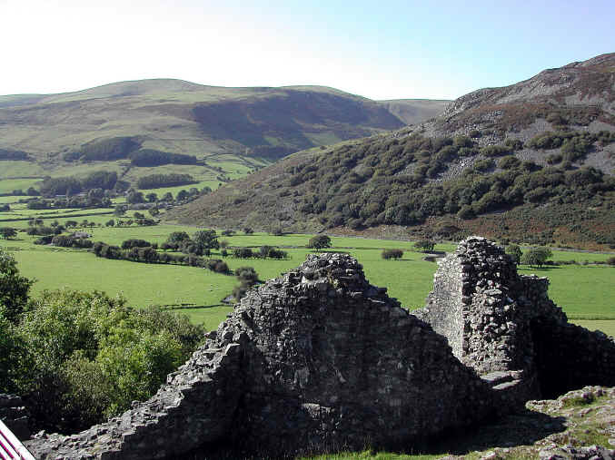 Part of the ruins of Castell-y-Bere in the Dysynni valley