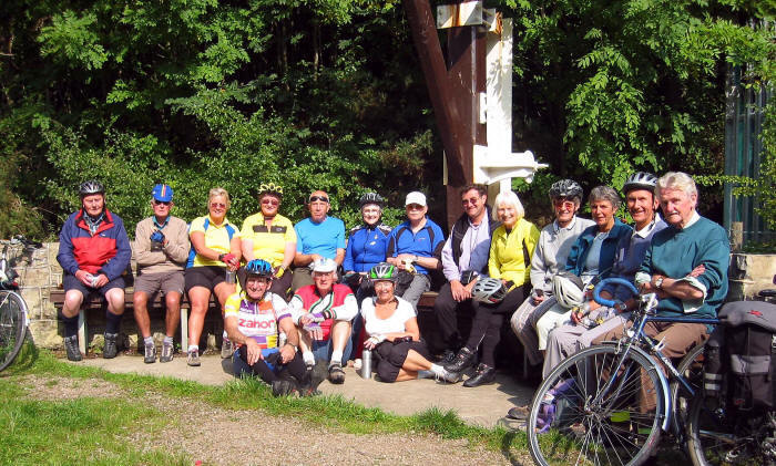 Photo of cycling group