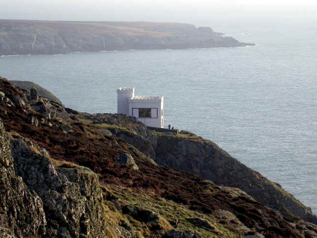 Ellin's Tower, an RSPB viewpoint where you can see many hundreds of nesting birds and an occasional peregrine falcon