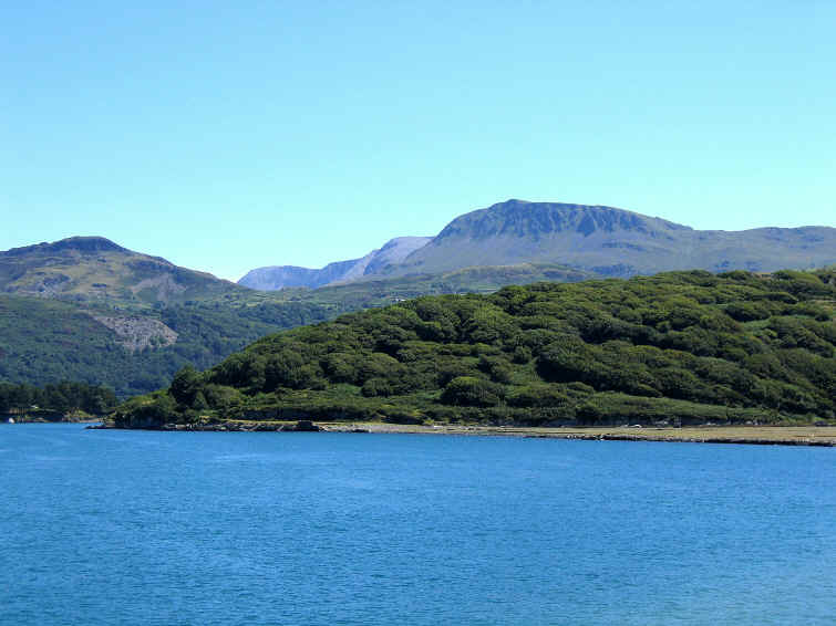 Cadair Idris seen from the bridge approaching Barmouth