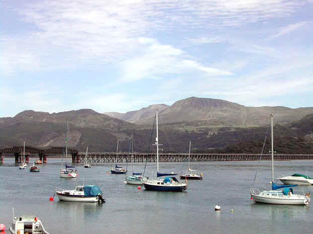 Causeway and bridge crossing the Mawddach to Barmouth