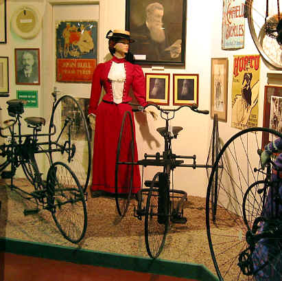 19th century tricycles with model of lady