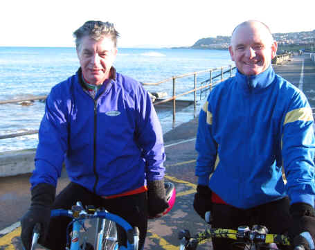 Bill Twigg and Paul Loftus of Rhyl Cycling Club