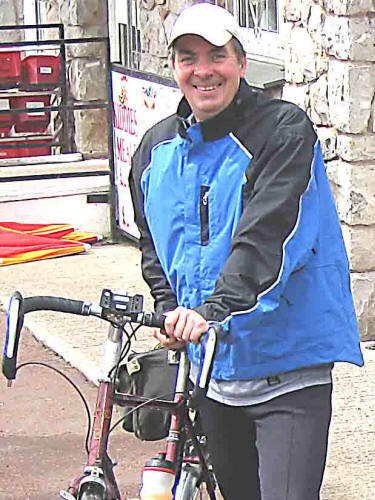 Photo of Dave Hill with bike